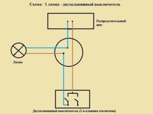 Как подключить лампочку и выключатель от одного двухжильного провода?