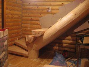 Лестница из бревна своими руками: пошаговая инструкция