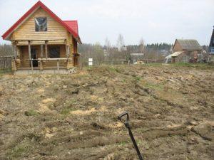 Выравнивание земельного участка