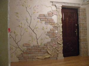 Декоративная отделка стен в квартире своими руками