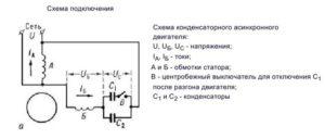 Схема подключения конденсатора для запуска двигателя