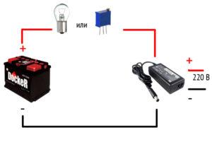Как выполнить подключение массажера без аккумулятора от адаптера?