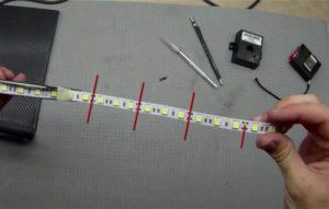 В каких местах можно разрезать LED ленту?