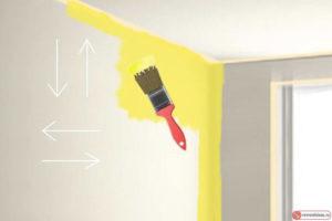 Покраска стен и потолков: технология нанесения краски