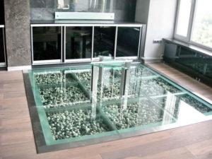 Как сделать стеклянный пол