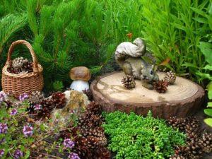 Садовые фигурки - необычное украшение в ландшафтном дизайне