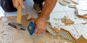 Демонтаж плитки в квартире своими руками