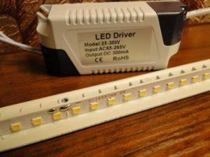 Как подобрать драйвер для светодиодного светильника и определить параметры имеющегося драйвера?