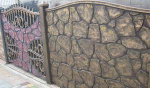 Покраска бетонного забора своими руками