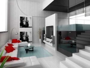 Гостиная в стиле хай тек: особенности оформления и дизайна