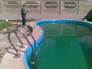 Лестница для бассейна: технология монтажа