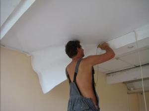 Ремонт натяжных потолков в квартире своими руками