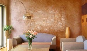 Венецианская декоративная штукатурка в интерьере квартиры своими руками