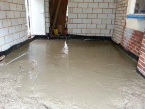 Бетонный пол в гараже: заливка бетона, покраска своими руками