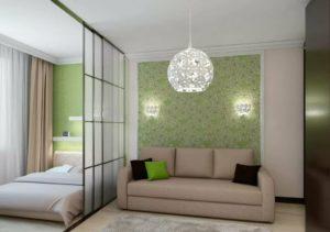 Дизайн гостиной со спальней: деление пространства, основы оформления