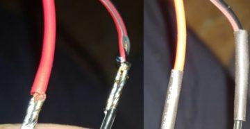 Простая технология наращивания проводов и кабелей
