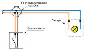 Подключение люстры к выключателю