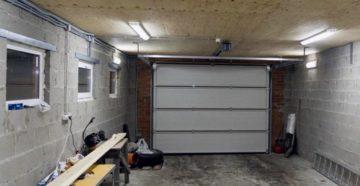 Грамотное освещение гаража