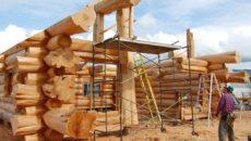 Дом из кругляка: технология строительства