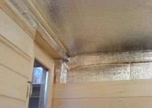 Как утеплить потолок бани